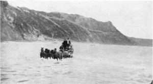 The old Gisborne-Tolaga Bay Coach Road 1890s