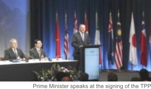 TPP signing Auckland